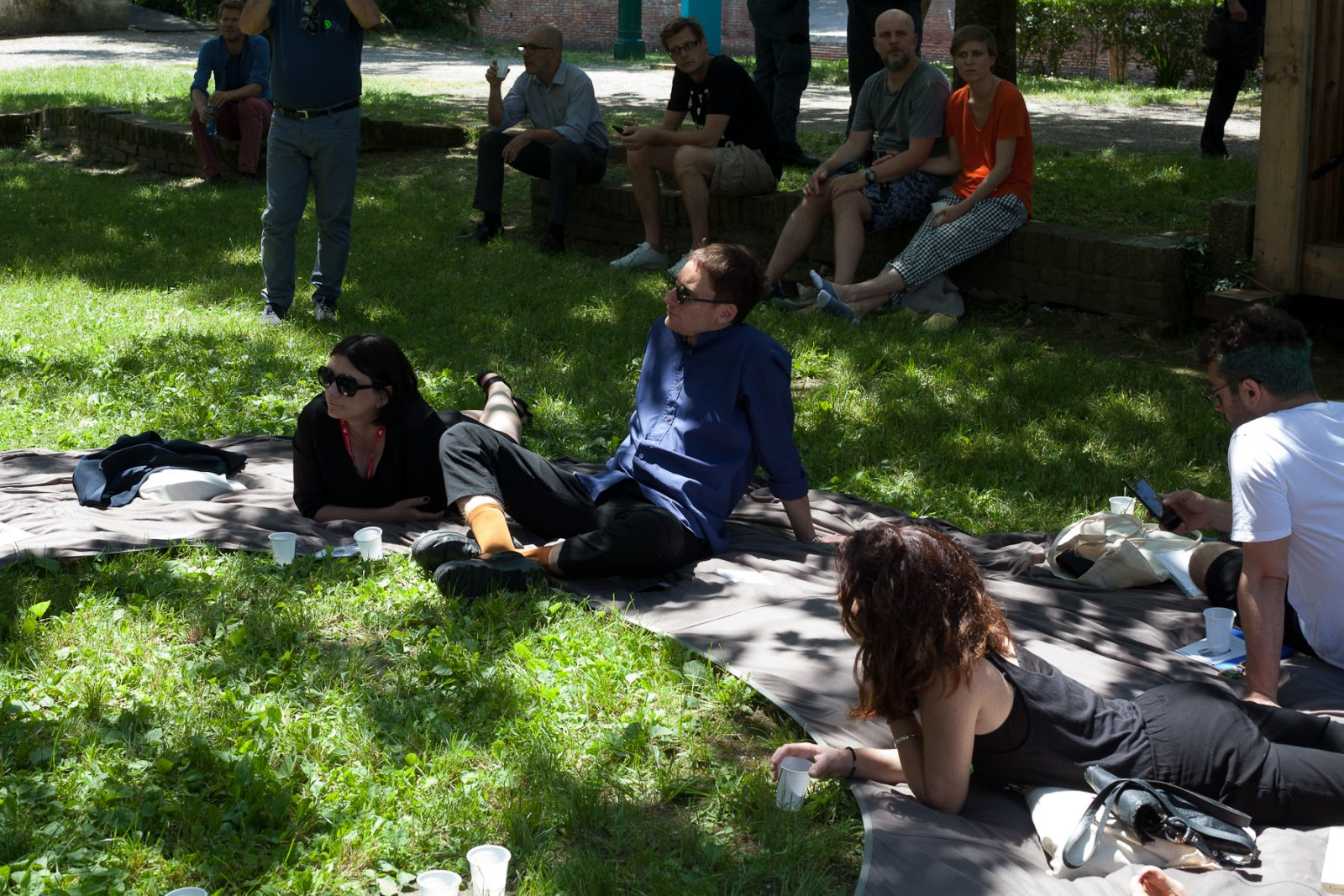 Amplifying Nature book lunch in front of the Polish Pavilion, 2018 Architecture Biennale, Venice, Italy. Photo Anna Zagrodzka