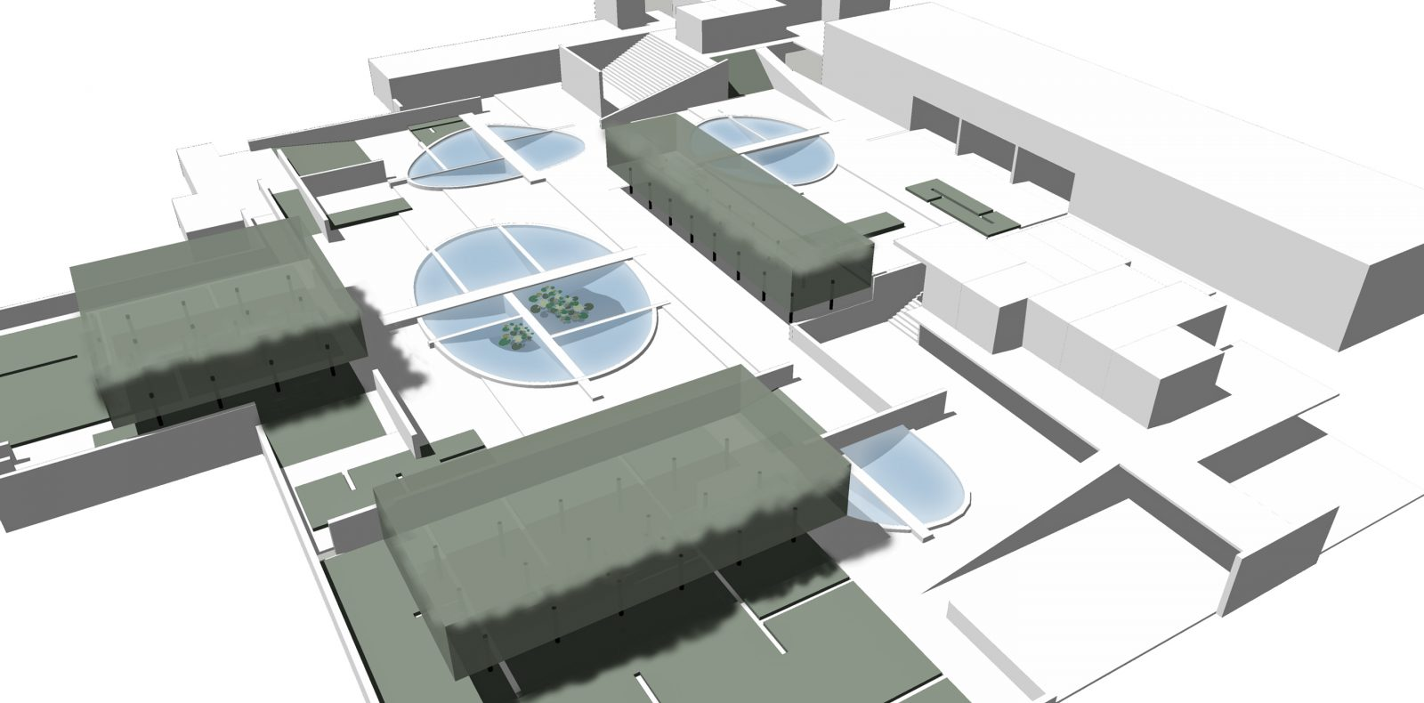 Embassy project according to the 1966 design, scale 1 : 250, reconstruction and ill. CENTRALA, 2020